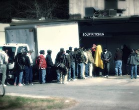 soup kitchen line