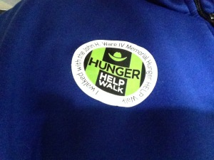 hunger walk sticker