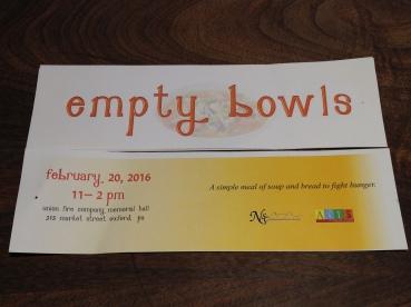 empty bowls ticket