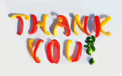 thank you veggies