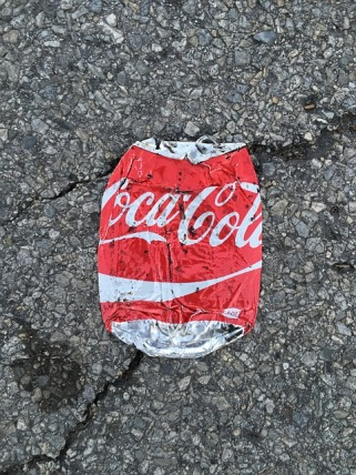 smashed can