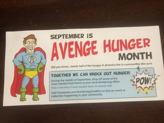 avenge hunger